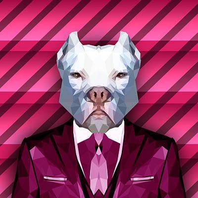 Pit Bull Digital Art - Dante by Gallini Design