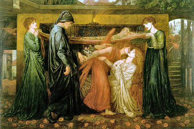 Painting - Dante's Dream At The Time Of The Death Of Beatrice 1871 by Dante Gabriel Rossetti Joy of Life Old Masters Gallery