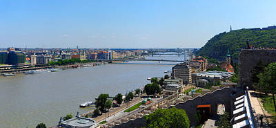 Photograph - Danube River At Budapest 2 by C H Apperson