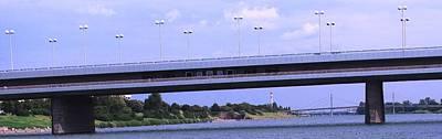 Photograph - Danube River Bridges by Ian  MacDonald