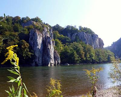 Photograph - Danube River Gorge In Sunny September by Barbie Corbett-Newmin