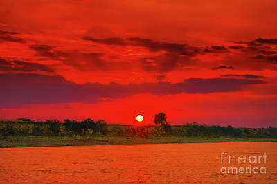 Photograph - Danube Sunset by Rick Bragan