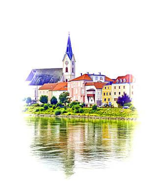 Danube Village Art Print by Dennis Cox WorldViews