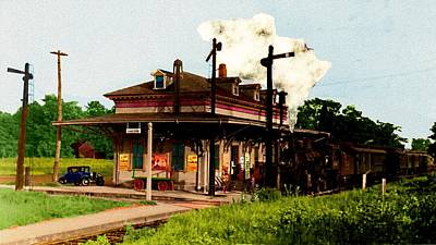 Digital Art - Danvers Massachusetts Rr Station by Cliff Wilson