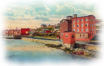 Photograph - Danville Flour Mill by Lisa and Norman  Hall