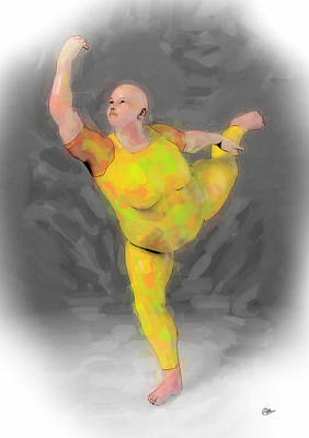 Ballet Dancers Painting - Danza China by Quim Abella