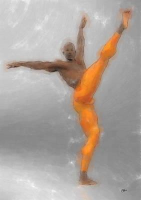 Ballet Dancers Painting - Danza El Amor De Las Tres Naranjas by Quim Abella