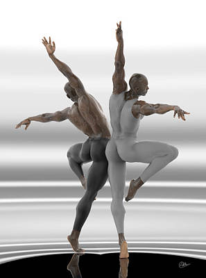 Muscular Digital Art - Danza En Pareja by Joaquin Abella