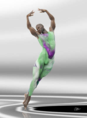 Danza En Verde Art Print