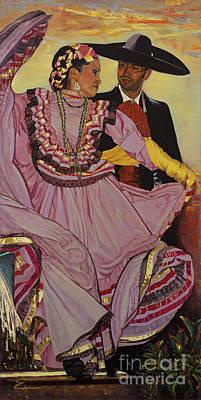 Painting - Danza Folklorica Jalisco by Ekaterina Stoyanova