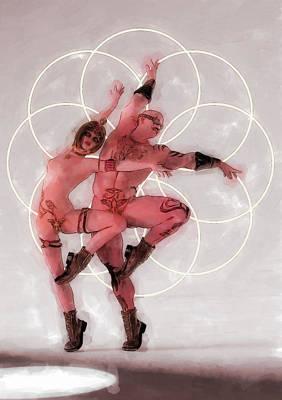 Dancer Painting - Danza Ritual Del Fuego by Quim Abella