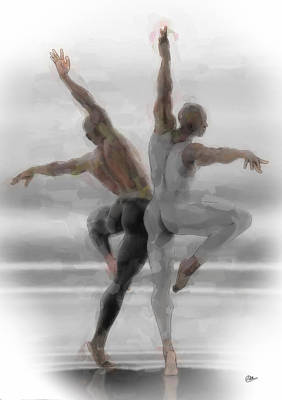 Ballet Dancers Painting - Danza Rusa by Quim Abella
