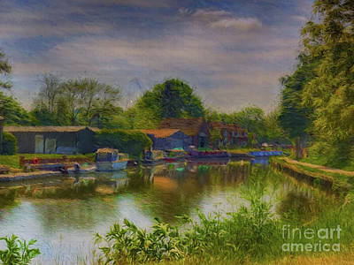 Photograph - Dapdune Wharf On The River Wey At Guildford. by Leigh Kemp