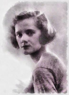 Daphne Du Maurier, Author Art Print by John Springfield
