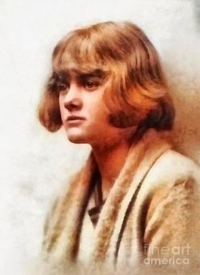 Literature Painting - Daphne Du Maurier, Literary Legend by Frank Falcon