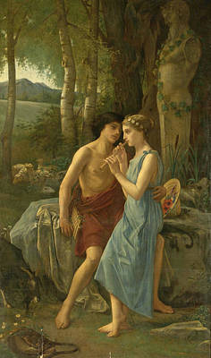 Painting - Daphnis And Chloe by Pierre Cabanel