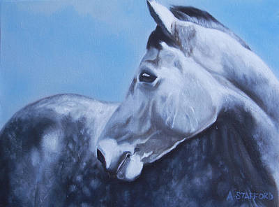 Wall Art - Painting - Dapple Grey Horse by Alison Stafford
