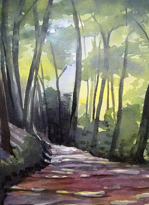 Dappled Dirt Road Art Print