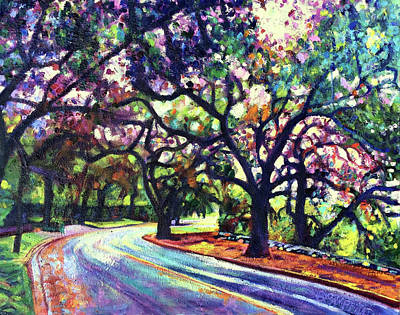 Painting - Dappled Lane Through The Arroyo by Bonnie Lambert