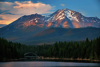 Photograph - Dappled Light On Mount Shasta by John Hight