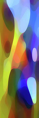 Colorful Abstract Digital Art - Dappled Light Panoramic Vertical by Amy Vangsgard