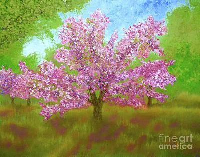 Painting - Dappled Shade Of Cherry Blossoms by Barrie Stark
