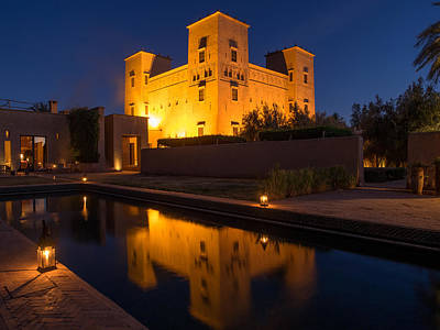 Chateau Photograph - Dar Ahlam Kasbah A Relais And Chateaux by Panoramic Images