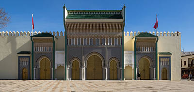 Moroccan Culture Photograph - Dar-el-makhzen The Royal Palace by Panoramic Images