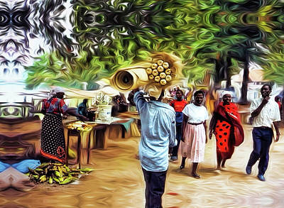 Photograph - Dar-es-salaam Market by Kay Brewer
