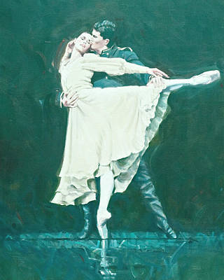 Darcey Bussell Farewell Winter Dreams Art Print by Charles Willmott