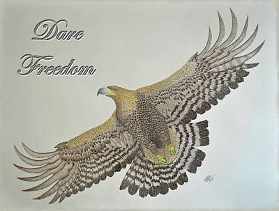 Drawing - Dare Freedom by Benoit Charron