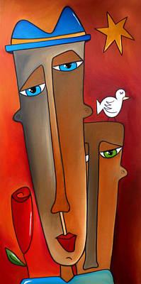 Tom Fedro Wall Art - Painting - Dare To Believe by Tom Fedro - Fidostudio