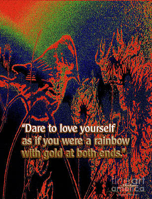 Mixed Media - Dare To Love Yourself On National Selfie Day by Aberjhani