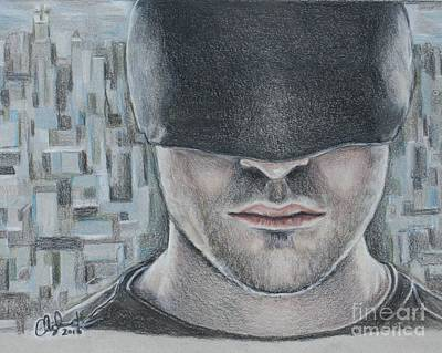 Drawing - Daredevil by Christine Jepsen
