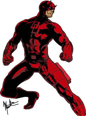 Digital Art - Daredevil by Robert Massetti
