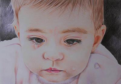 Tears Drawing - Daria by Natalia Serdiuc