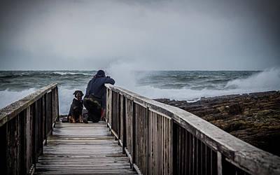 Photograph - Daring The Swells by Alex Leonard