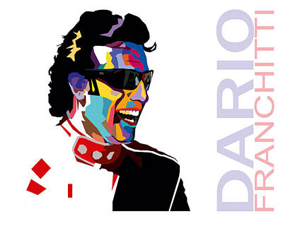 Dario Franchitti Pop Art Style Print by Jim Bryson