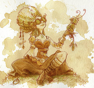 Steampunk Wall Art - Painting - Darjeeling by Brian Kesinger
