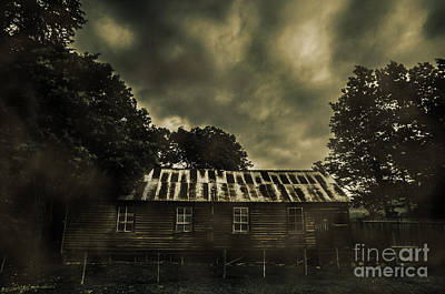 Old House Photograph - Dark Abandoned Barn by Jorgo Photography - Wall Art Gallery