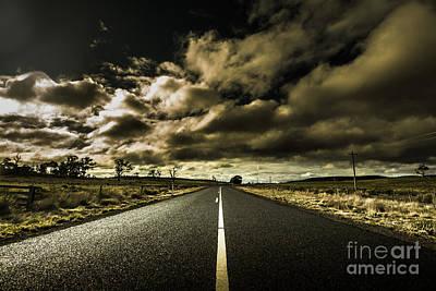 Asphalt Photograph - Dark Adventure Ahead by Jorgo Photography - Wall Art Gallery