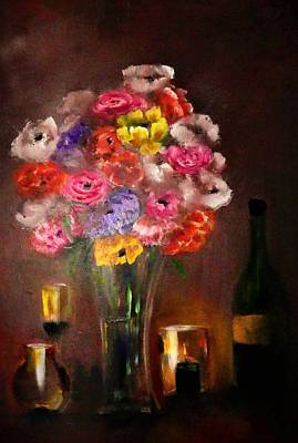 Digital Art - Dark And Dramatic Bouquet By Lisa Kaiser by Lisa Kaiser