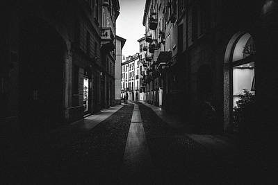 Photograph - Dark And Moody Milan, Italy by Alexandre Rotenberg