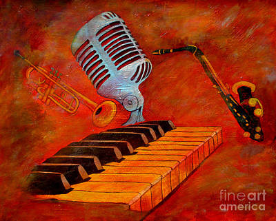 Painting - Dark And Smoky Jazz by Anthony Dunphy