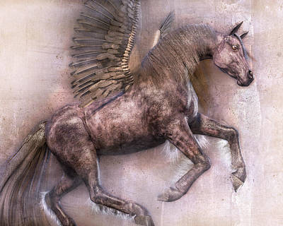 Pegasus Wall Art - Digital Art - Dark Angel by Betsy Knapp
