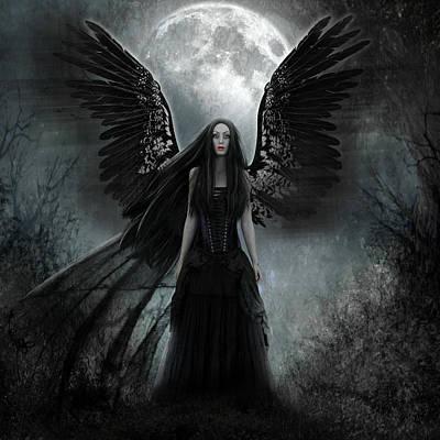 Digital Art - Dark Angel by Karin Claesson