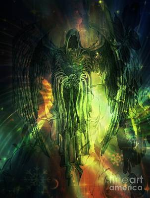 Digital Art - Dark Angel by Maria Urso