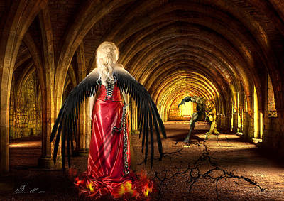 Cracks Digital Art - Dark Angel by Svetlana Sewell