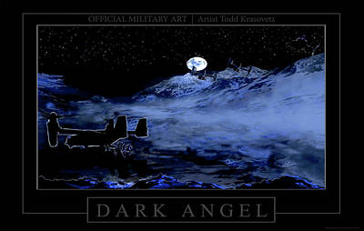 Dark Angel Art Print by Todd Krasovetz