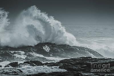 Tsunami Photograph - Dark Atmospheric Coastline by Jorgo Photography - Wall Art Gallery